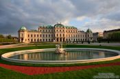 Travel photography:The lower Belvedere with fountain, Austria