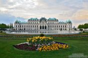 Travel photography:Belvedere palace with gardens , Austria