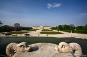Travel photography:View of Schönbrunn palace and gardens, Austria