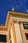 Travel photography:Schönbrunn palace facade detail, Austria