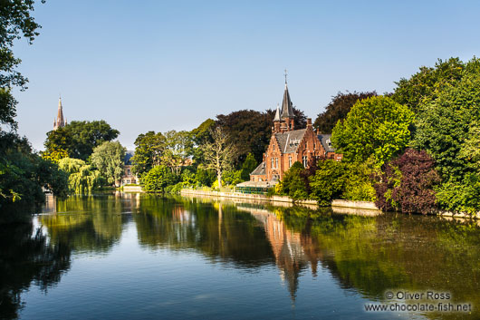 House along a lake in Bruges