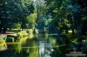 Travel photography:Bruges park along the river, Belgium
