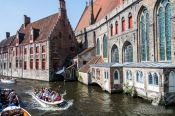 Travel photography:Bruges houses, Belgium