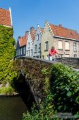 Travel photography:Bridge in Bruges, Belgium