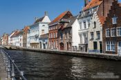 Travel photography:Canal with houses in Bruges, Belgium