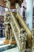 Travel photography:Pulpit inside Bruges cathedral, Belgium