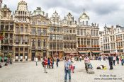 Travel photography:Houses on the Brussels main square (Grote Markt), Belgium