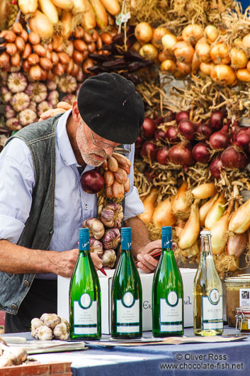 Vendor at the Kuider food market in Ghent