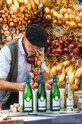 Travel photography:Vendor at the Kuider food market in Ghent, Belgium