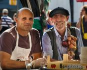 Travel photography:Vendors at the Kuider food market in Ghent, Belgium