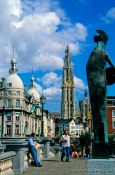 Travel photography:Antwerpen viewed from the riverbank., Belgium