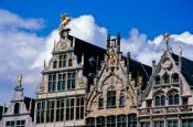 Travel photography:Traditional houses in Antwerp, Belgium