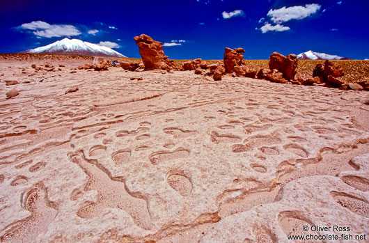 Rock formations on the altiplano, south-western Bolivia
