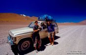 Travel photography:Tourists with 4WD, Bolivia