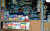 Travel photography:Bookseller and phone booth in La Paz, Bolivia