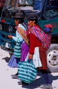 Travel photography:Two women in Potosi, Bolivia