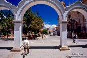 Travel photography:View of Potosi town square, Bolivia