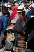 Travel photography:Woman with children in Potosi, Bolivia