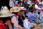 Travel photography:Group of protesters at a demonstration in Potosi, Bolivia