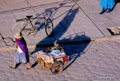 Travel photography:Street scene in Uyuni, Bolivia
