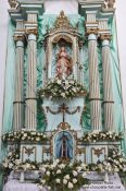 Travel photography:Valença church altar with black Madonna, Brazil