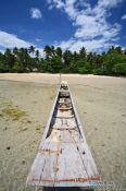 Travel photography:Boat on Boipeba Island beach, Brazil