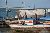 Travel photography:Boats in Boipeba Island harbour , Brazil