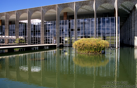 The Itamarati palace (Ministry of Foreign Affairs building) in Brasilia, by architect Oscar Niemeyer