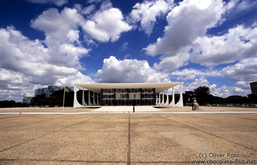 Supreme Court Building at the Square of the Three Powers in Brasilia by architrects Lúcio Costa and Oscar Niemeyer