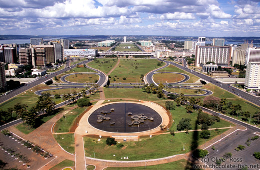 The Eixo Monumental in Brasilia (View from the Television Tower)