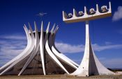 Travel photography:The Catedral Metropolitana in Brasilia, by architect Oscar Niemeyer, Brazil