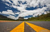 Travel photography:Road leading to the Morro do Pai Inacio near Lençóis, Brazil