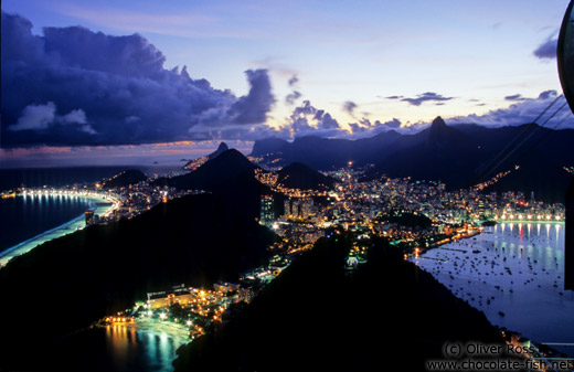 View of Rio after sunset from the Pão de Açúcar (Sugar Loaf)
