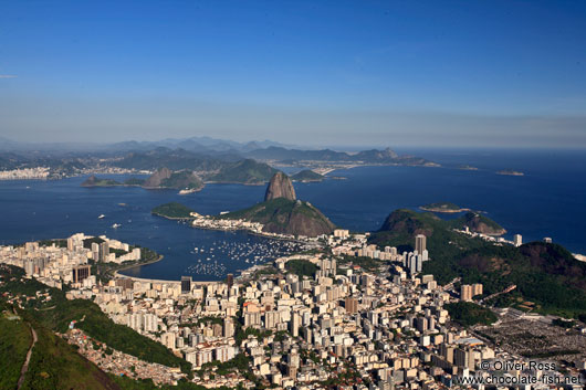 Panoramic view of the Sugar Loaf (Pão de Açúcar) in Rio