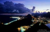 Travel photography:View of Rio after sunset from the Pão de Açúcar (Sugar Loaf) , Brazil