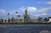 Travel photography:The palace on Ilha Fiscal in Guanabara bay in Rio, Brazil
