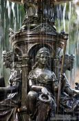 Travel photography:Detail of the fountain in Rio´s Botanical Garden, Brazil