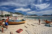 Travel photography:Copacabana beach in Rio, Brazil