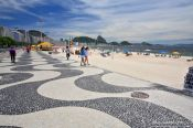 Travel photography:Characteristic pavement along Copacabana beach, Brazil