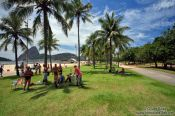 Travel photography:People having a picnic at Flamengo beach in Rio, Brazil
