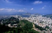 Travel photography:Panoramic view of Rio from the Mirante de Dona Marta near the Corcovado, Brazil