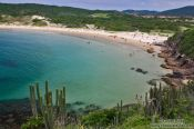 Travel photography:Praia da Concha (horseshoe beach) near Cabo Frio, Brazil