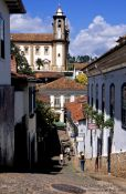 Travel photography:Street in Ouro Preto, Brazil