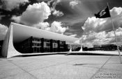 Travel photography:Brasilia Supreme court building by architects Oscar Niemeyer and Lúcio Costa, Brazil