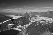 Travel photography:Gondola travelling to the top of the Pão de Açúcar (Sugar Loaf) in Rio de Janeiro, Brazil