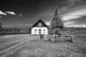 Travel photography:Farm house near Mont Tremblant National Park in Quebec province, Canada