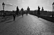 Travel photography:Silhouettes of Charles Bridge and Old Town skyline, Czech Republic