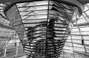 Travel photography:Mirror construction in the glass cupola, Germany