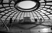 Travel photography:The observation platform at the top of the glass cupola, Germany