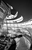 Travel photography:Walkways circle the central mirror construction, Germany